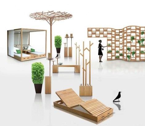 Drveni Namještaj Za Otvorene Prostore
