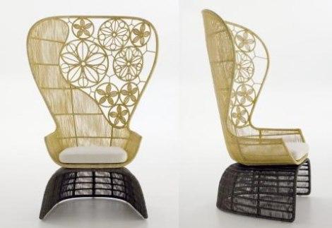 Fotelja Od Krinolina Sa Visokim Naslonom