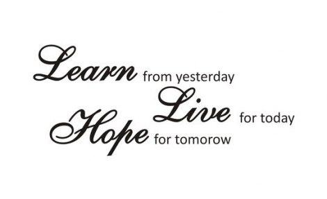 Naljepnica Learn, Live, Hope 110x47cm