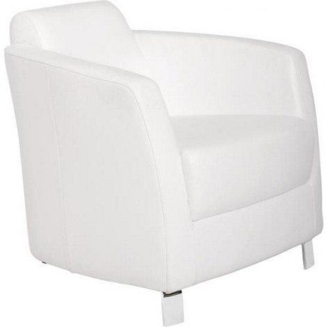 Fotelja Od Kvalitetne Bijele Kože